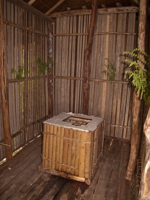 "Papua New Guinea Village Homestay - The ""Thunderbox"" itself..."