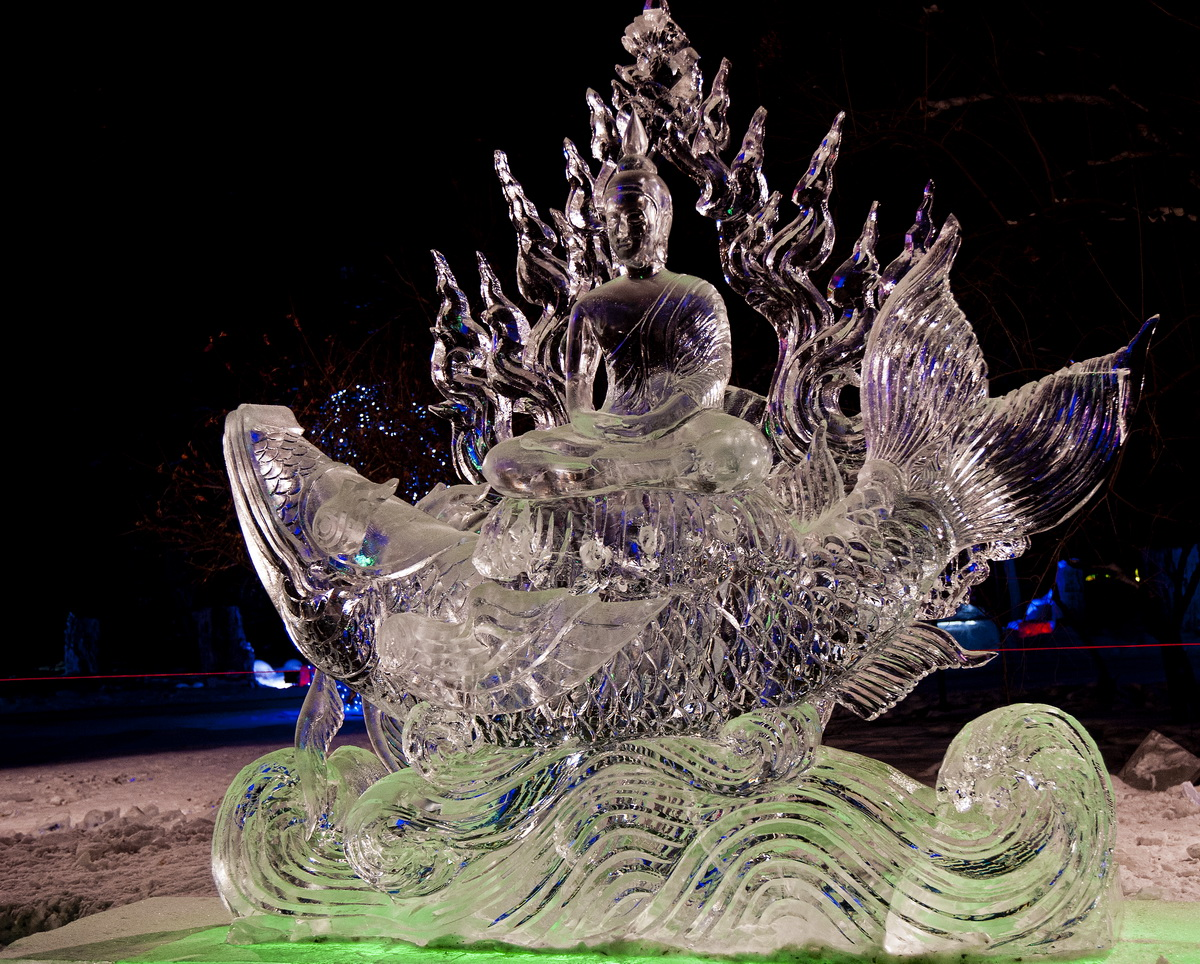 harbin ice and snow festival - Zhaolin Park Ice Sculpture