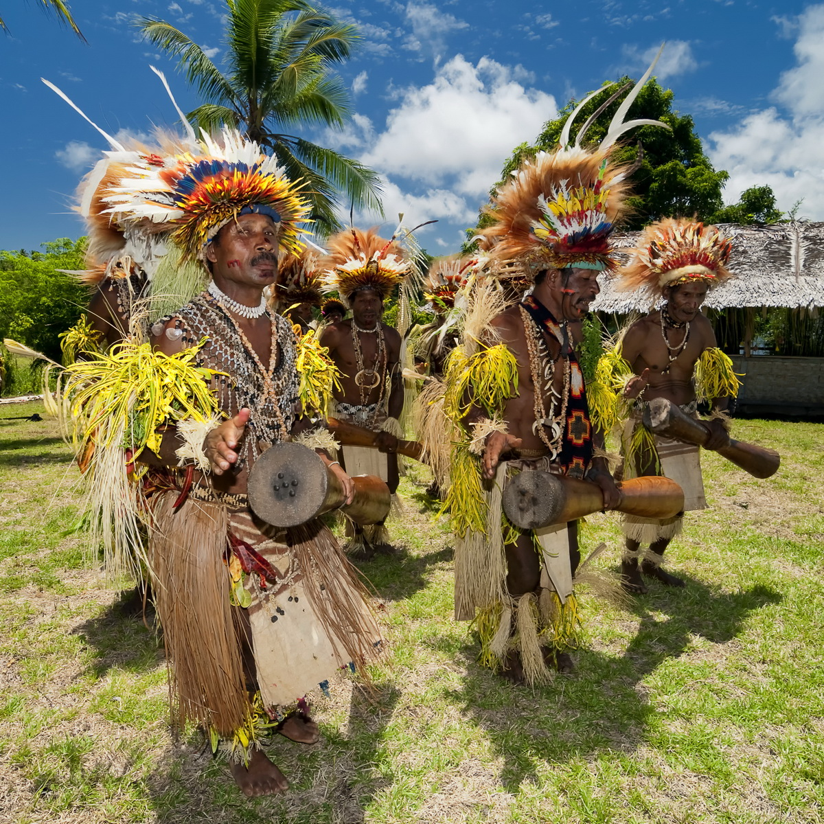 Facial tattoos of Oro Province - Cultural Demonstration at Koje Village, near Tufi