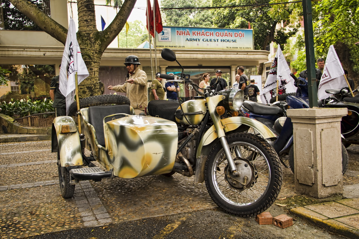 HCM Trail on the Russian Ural - Russian Ural sidecar outfit ready for Ho Chi Minh trail