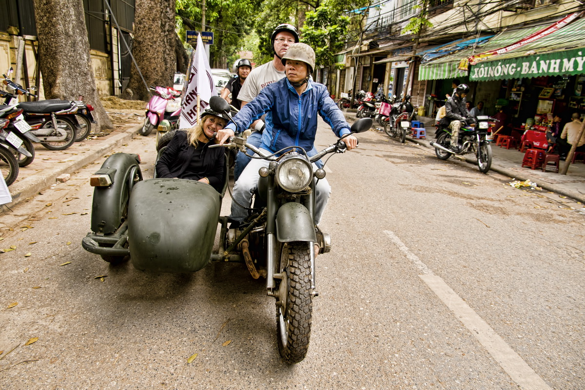 HCM Trail on the Russian Ural - The charismatic and pretty cool Russian Ural in Hanoi!