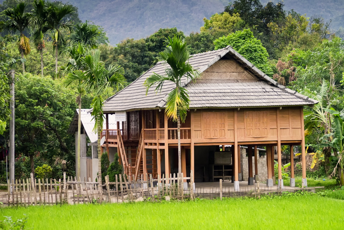 Stilt houses of Mai Chau - A stilt houses in the village of Mai Chau