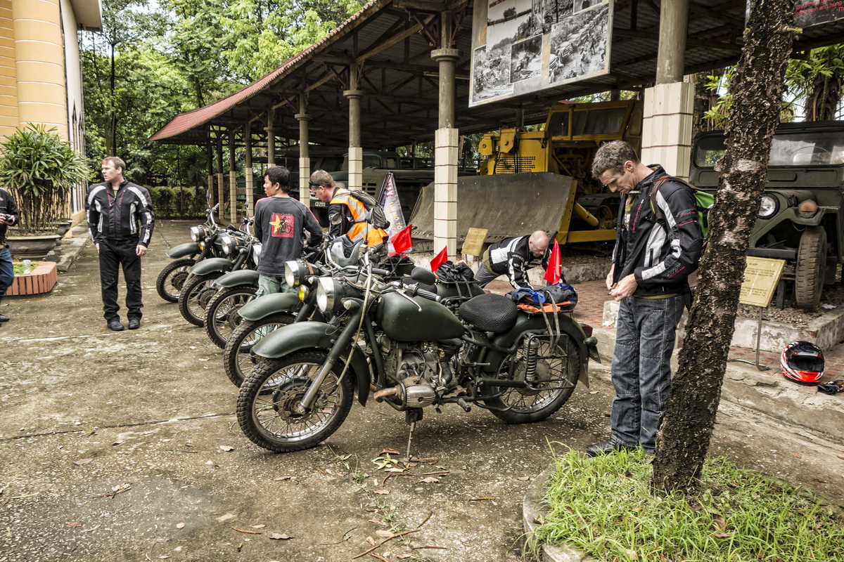Stilt houses of Mai Chau - Preparing to depart from the Ho Chi Minh Trail Museum on Hanoi