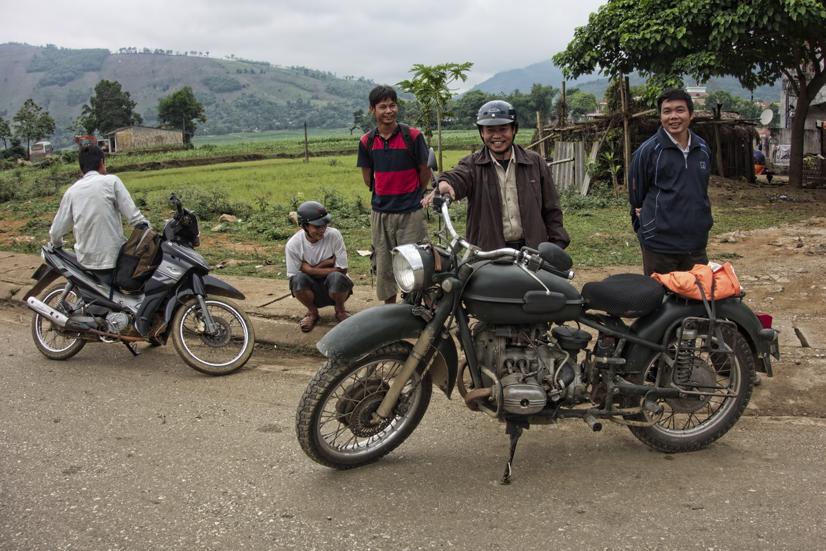 Ural on the Ho Chi Minh Trail - The Ural motorcycle attracted a lot of attention
