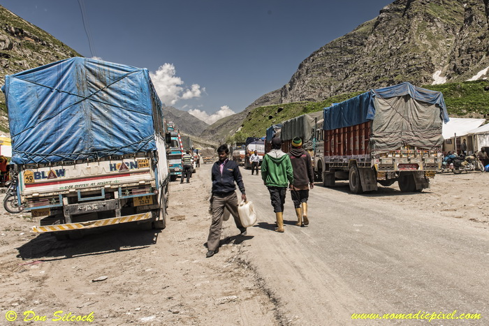 Typical truck stop in the Himalayas
