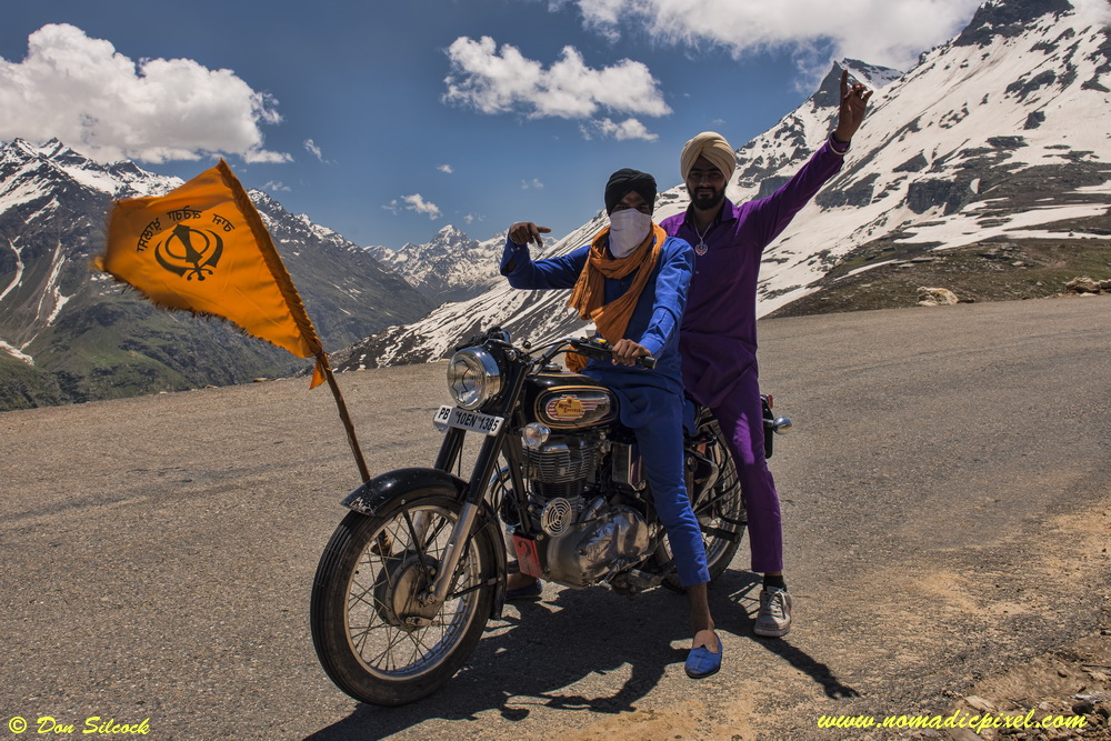 Royal Enfield Bullet on the Rohtang Pass