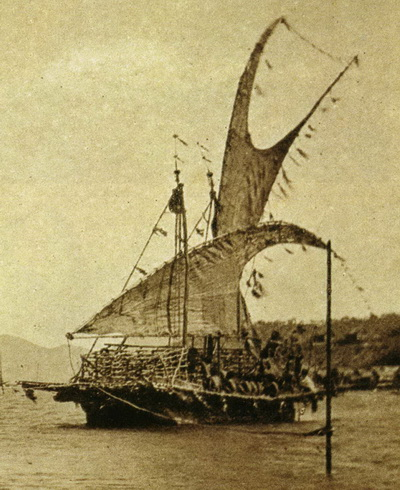 Hanuabada Stilt Village and a Lagatoi – Image Courtesy of the PNG Museum