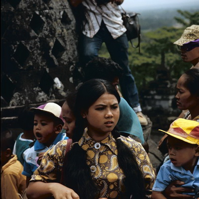 Busy day at Borobudur
