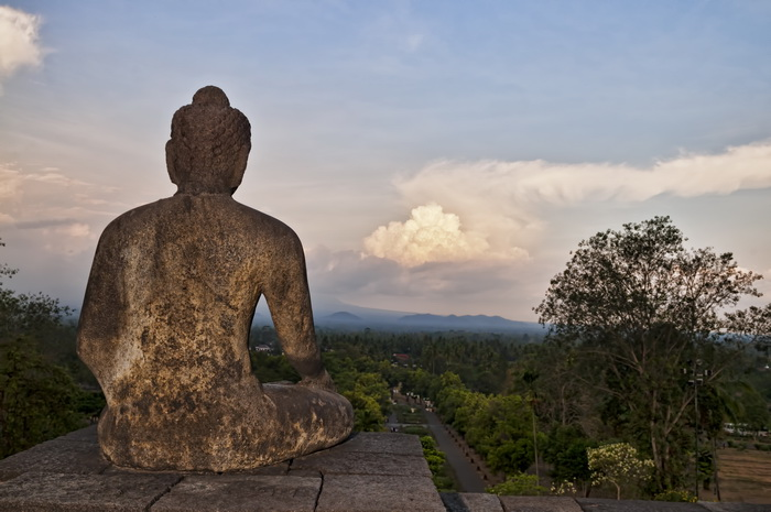 The vibe at Borobudur